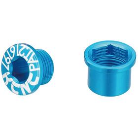 KCNC Road SPB003 Chaing Ring Screw Set Shimano M8 short, blue